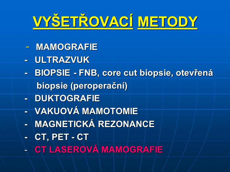 VYŠETŘOVACÍ METODY - ULTRAZVUK