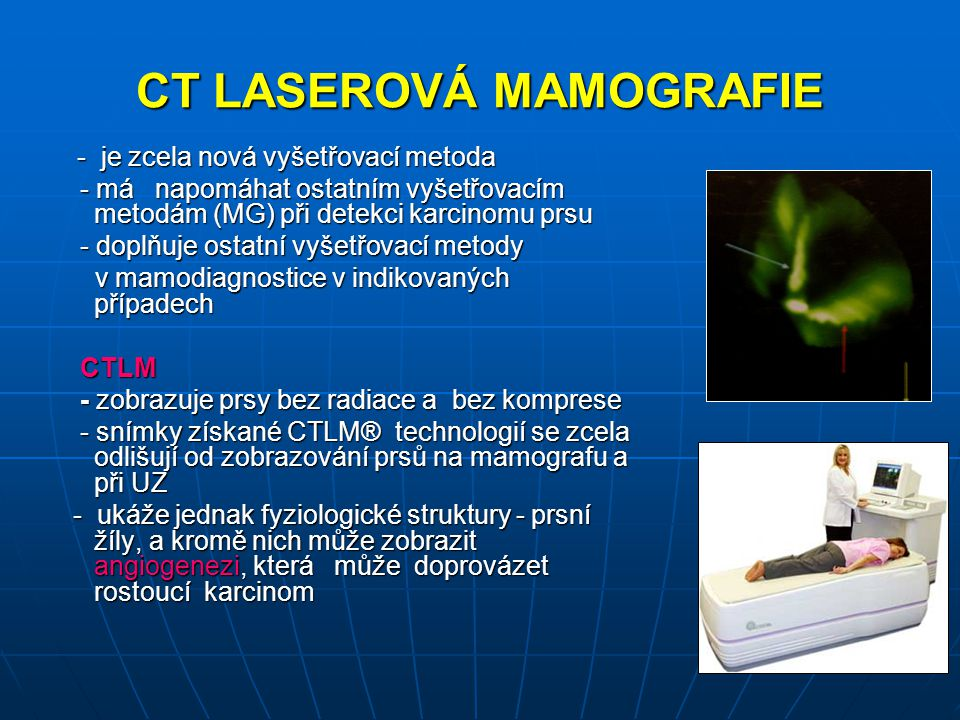 CT LASEROVÁ MAMOGRAFIE