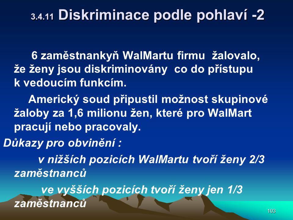 3.4.11 Diskriminace podle pohlaví -2