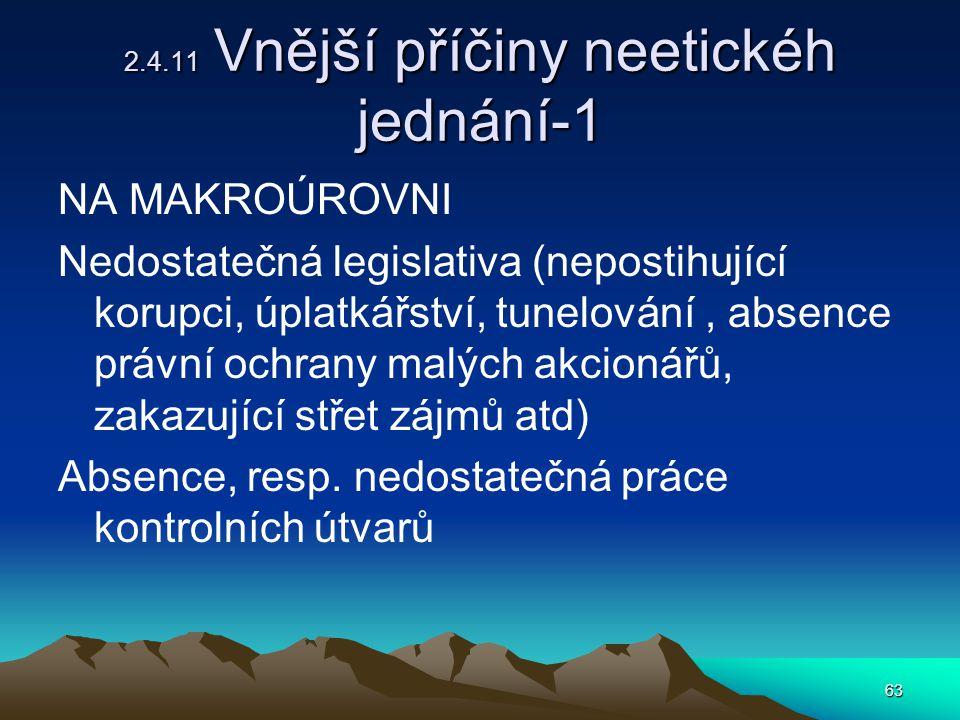 2.4.11 Vnější příčiny neetickéh jednání-1
