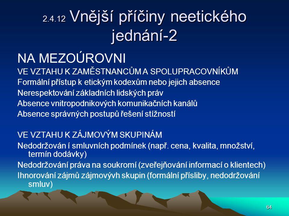 2.4.12 Vnější příčiny neetického jednání-2