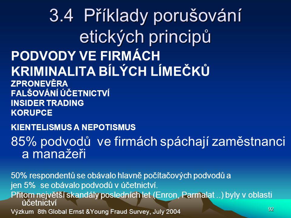 3.4 Příklady porušování etických principů
