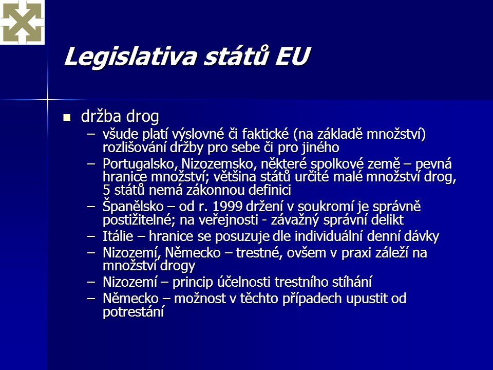 Legislativa států EU držba drog