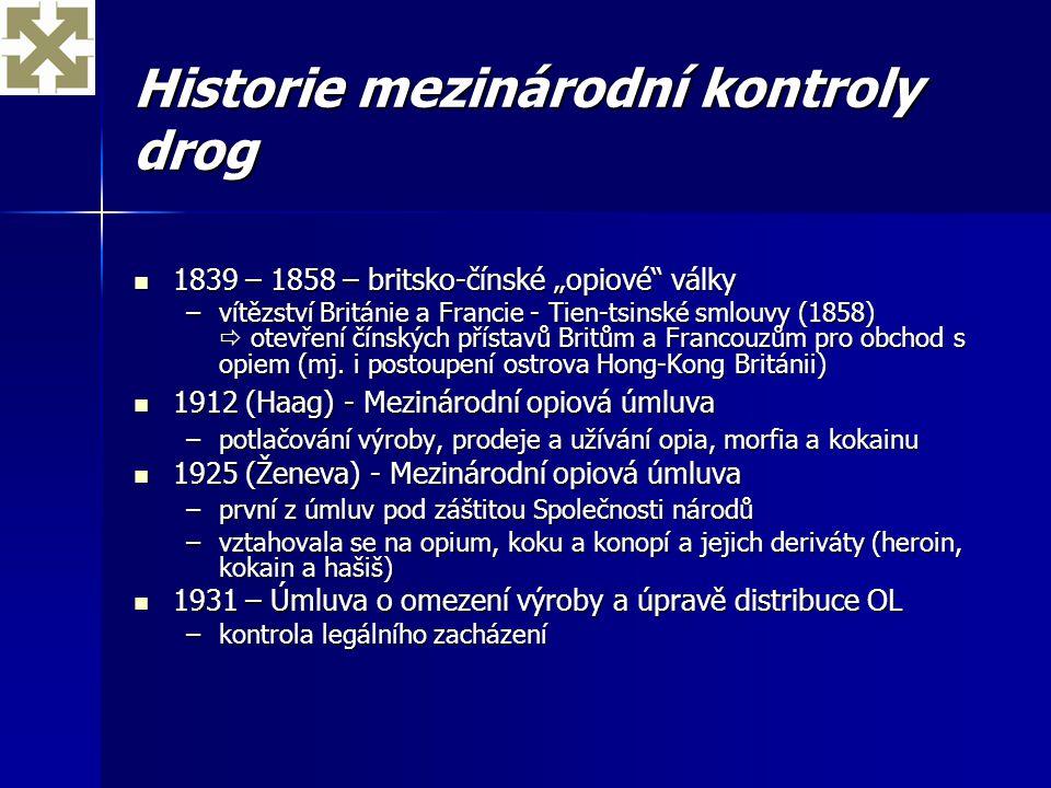 Historie mezinárodní kontroly drog