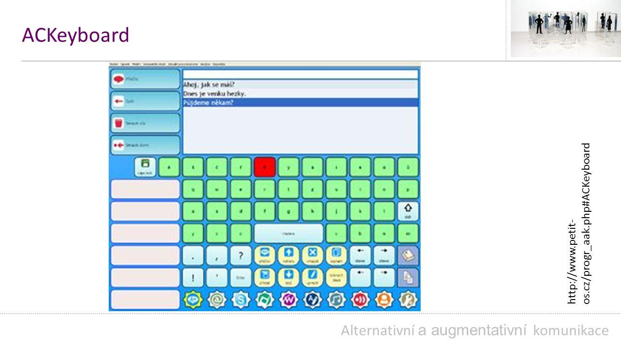 ACKeyboard Alternativní a augmentativní komunikace
