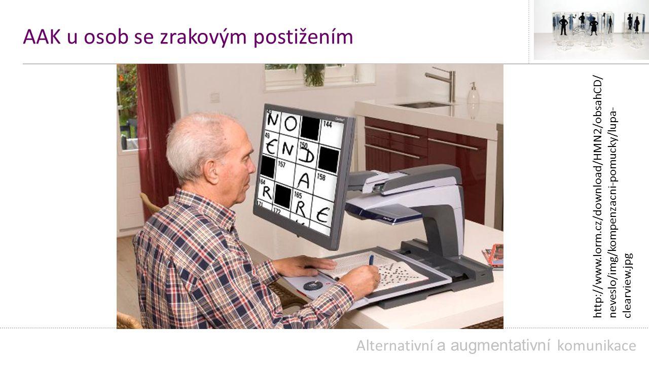 AAK u osob se zrakovým postižením