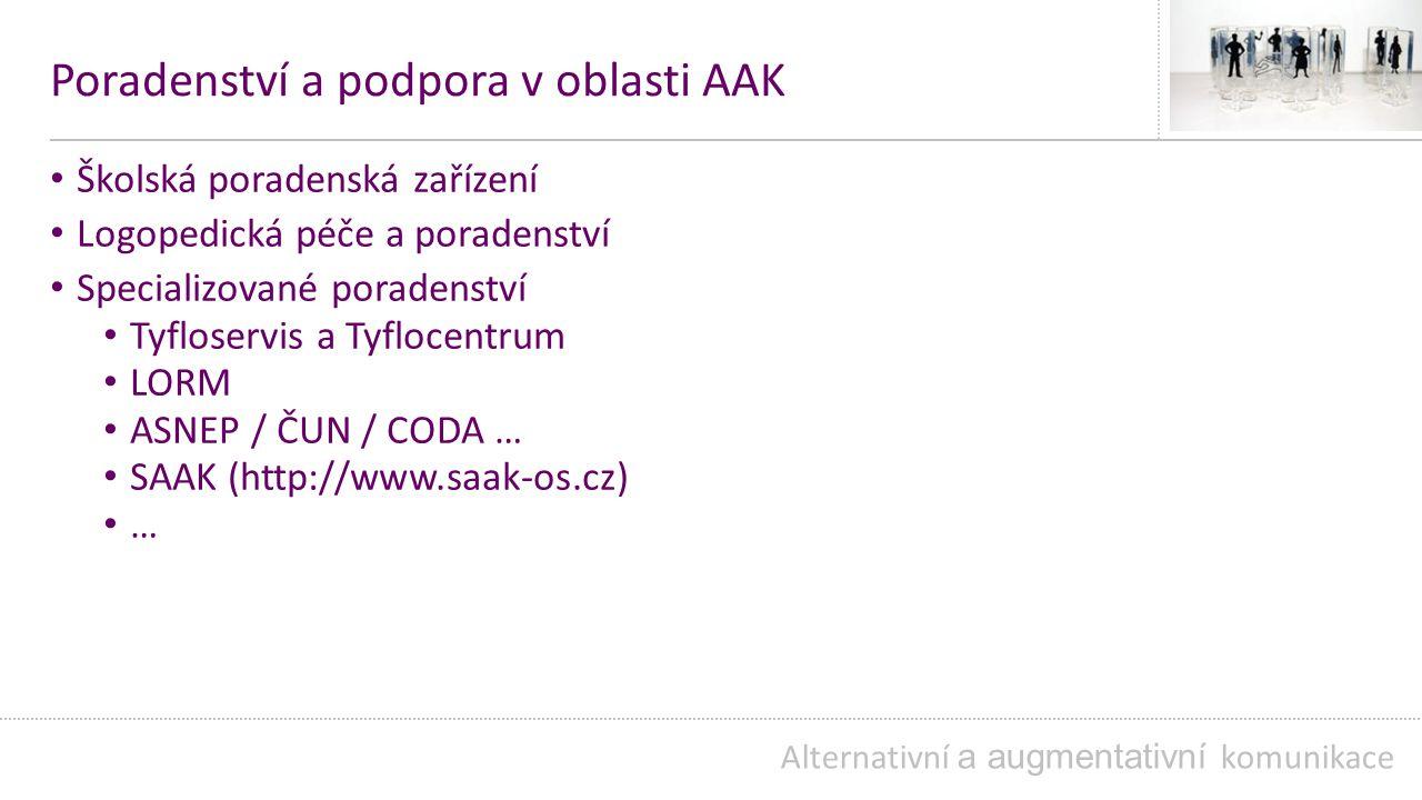 Poradenství a podpora v oblasti AAK