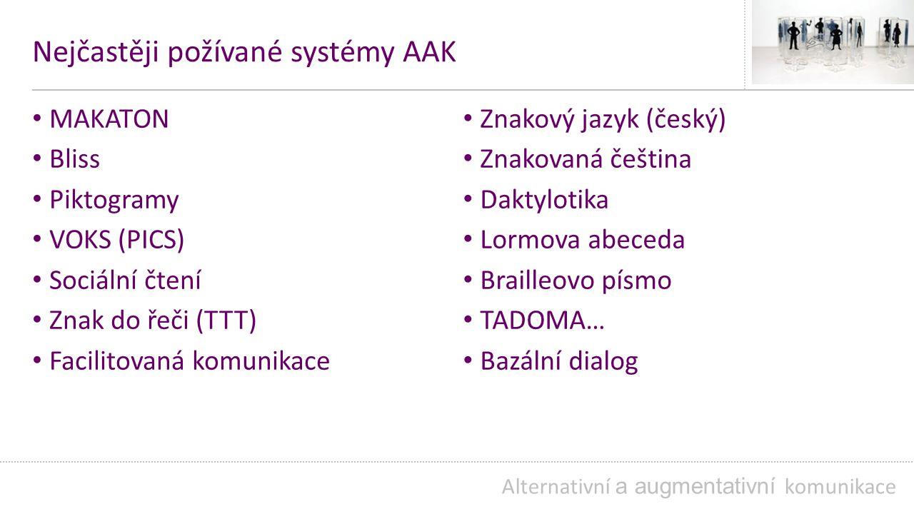 Nejčastěji požívané systémy AAK