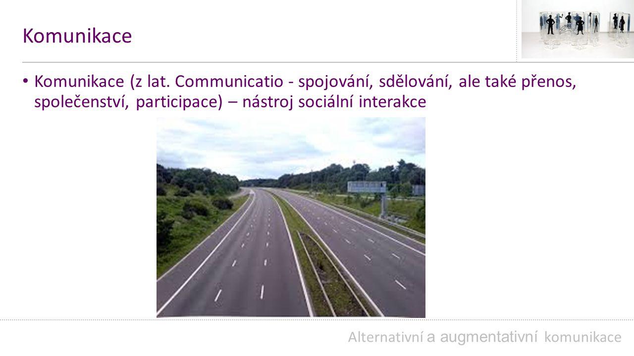 Komunikace Komunikace (z lat. Communicatio - spojování, sdělování, ale také přenos, společenství, participace) – nástroj sociální interakce.