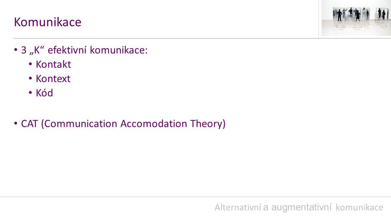 """Komunikace 3 """"K efektivní komunikace: Kontakt Kontext Kód"""