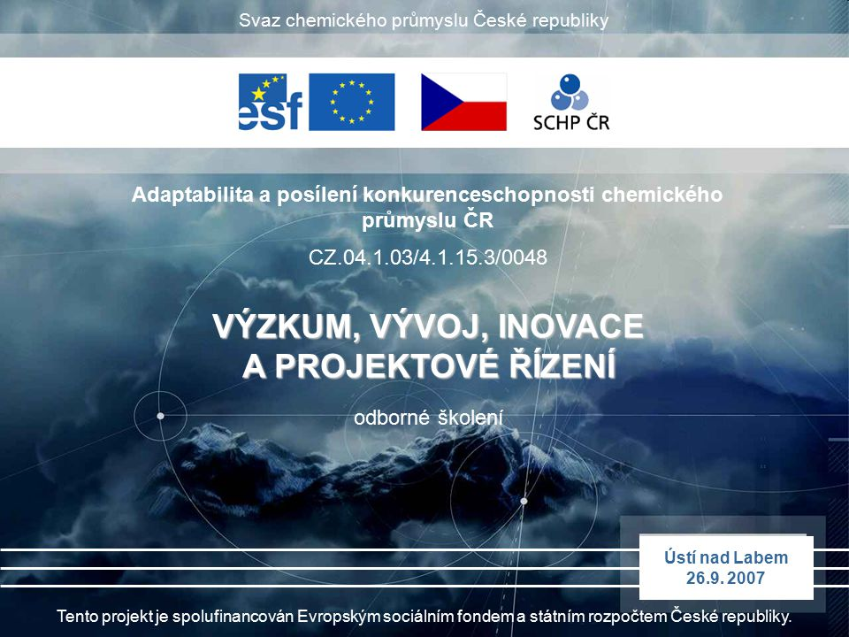 Adaptabilita a posílení konkurenceschopnosti chemického průmyslu ČR