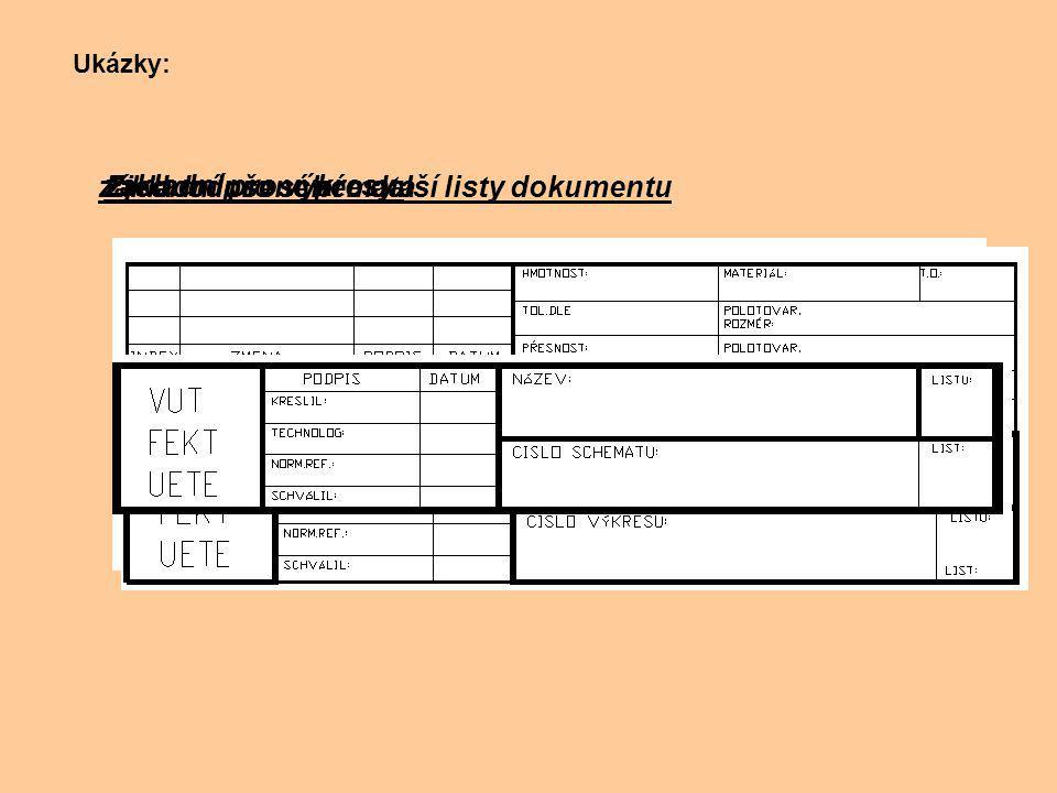 Zjednodušené pro další listy dokumentu