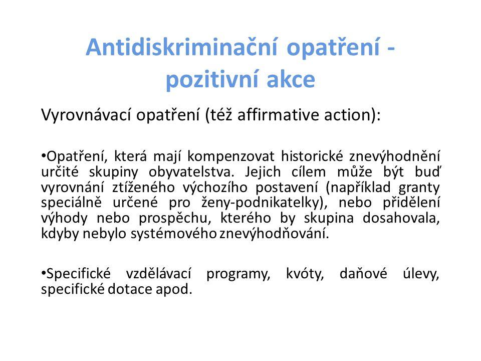 Antidiskriminační opatření -pozitivní akce