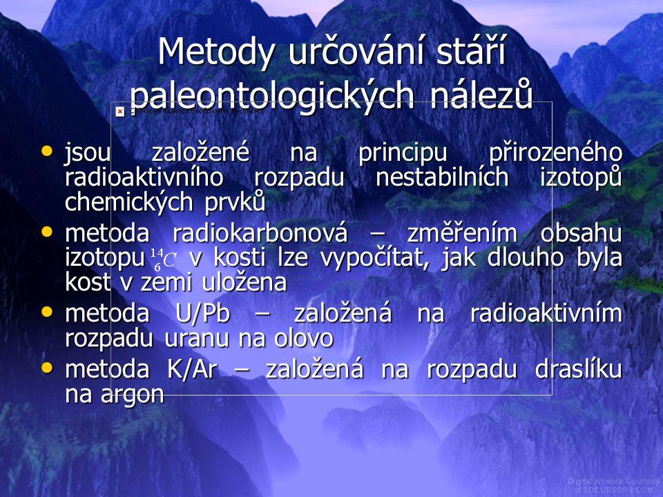 Metody určování stáří paleontologických nálezů
