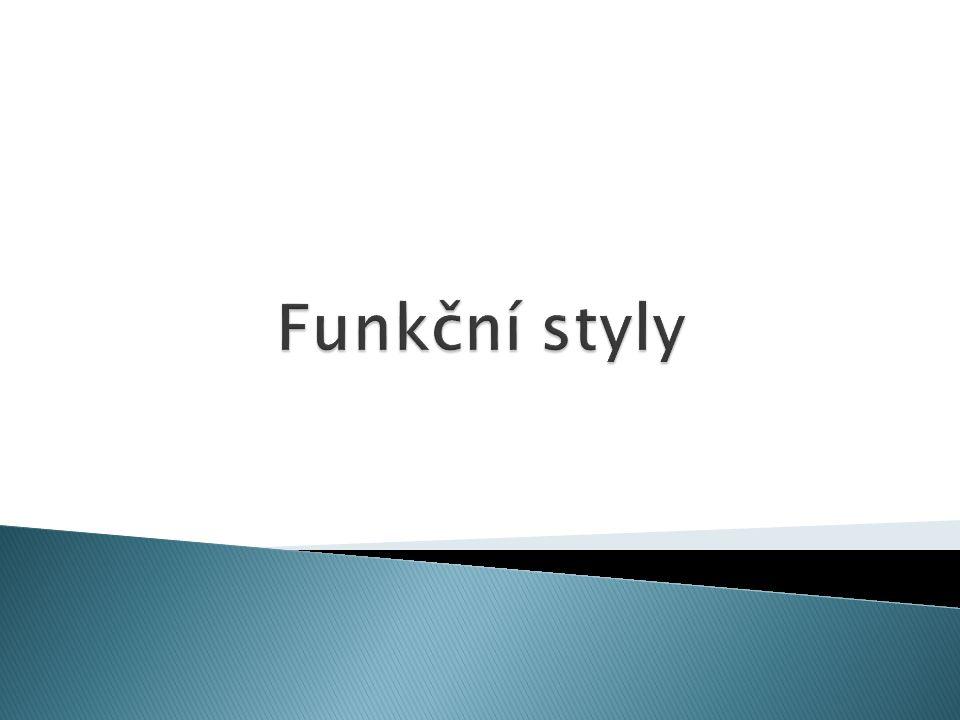 Funkční styly