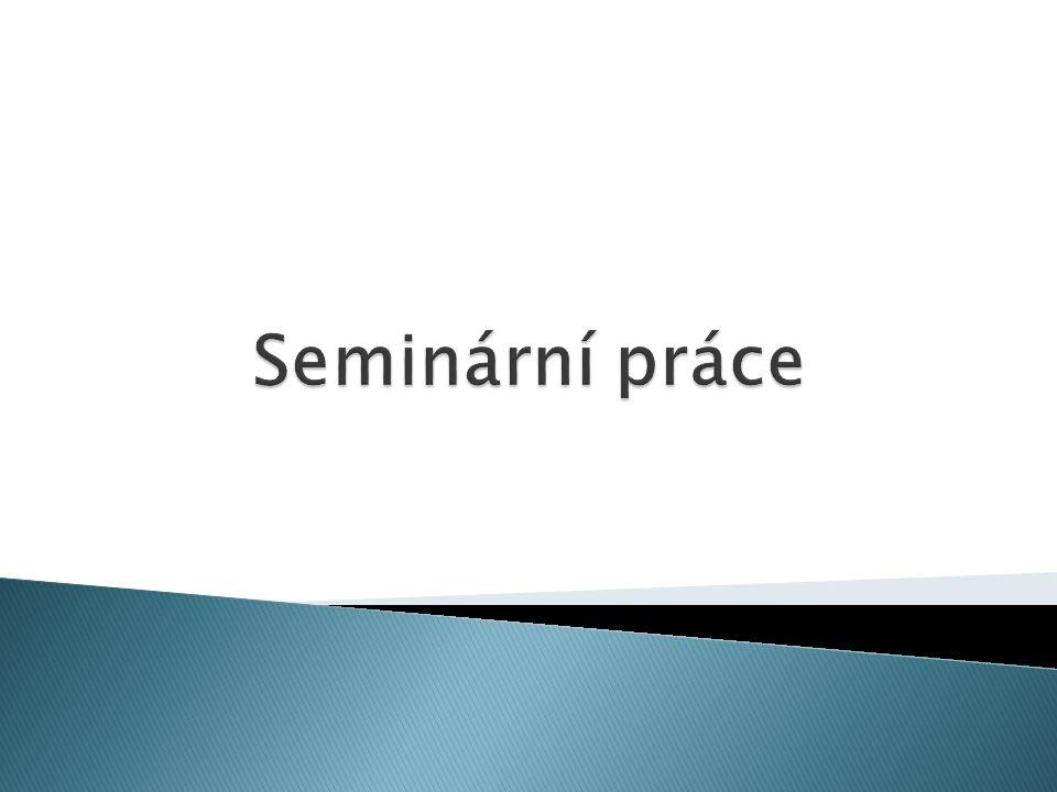Seminární práce