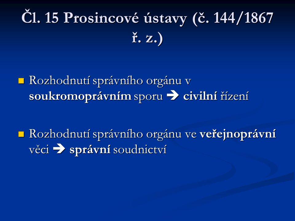 Čl. 15 Prosincové ústavy (č. 144/1867 ř. z.)