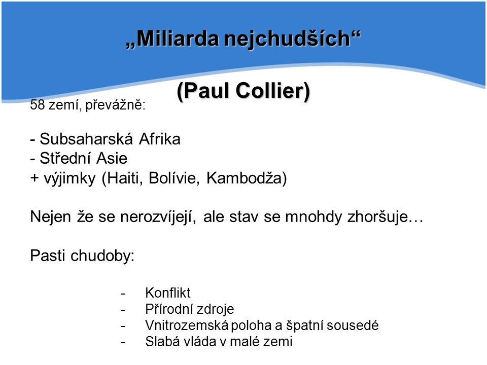 """""""Miliarda nejchudších (Paul Collier)"""