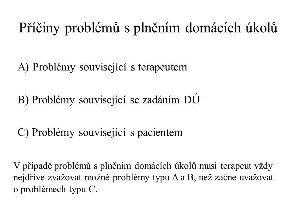 Příčiny problémů s plněním domácích úkolů