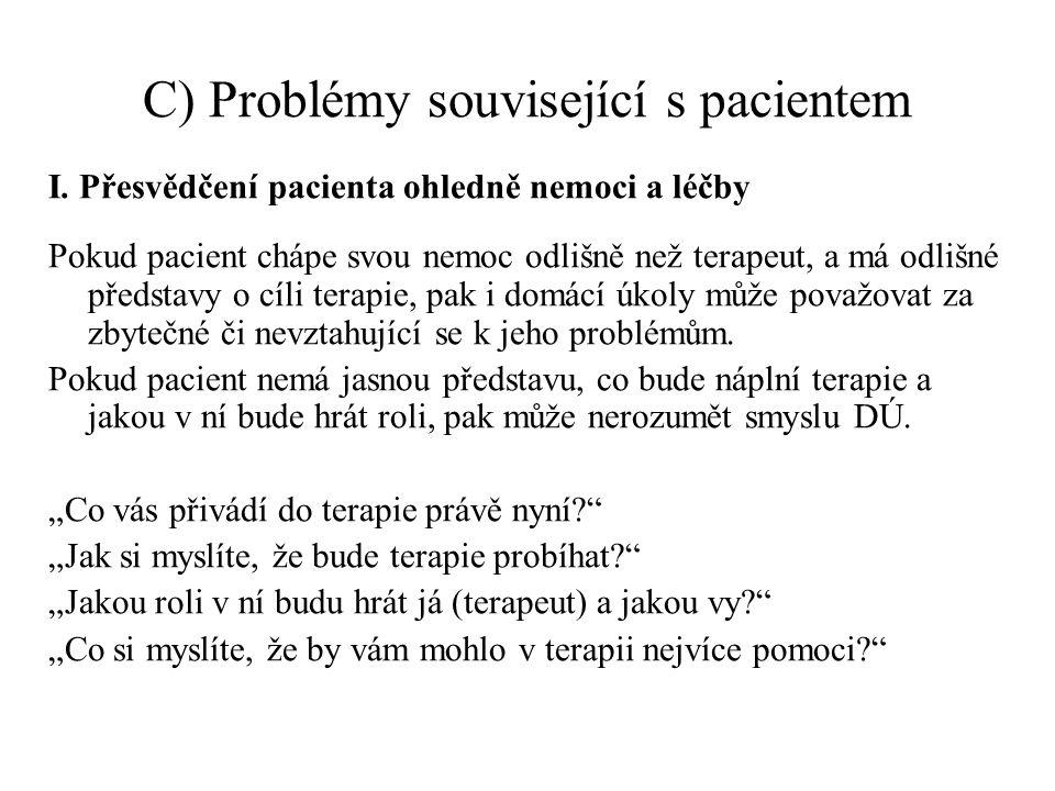C) Problémy související s pacientem