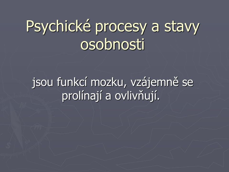 Psychické procesy a stavy osobnosti