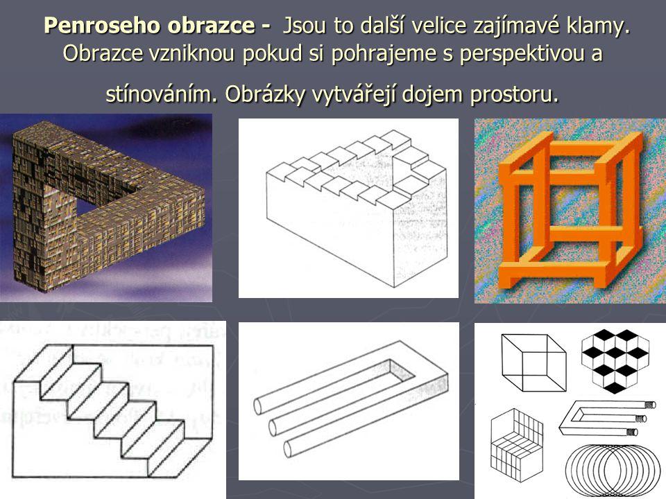 Penroseho obrazce - Jsou to další velice zajímavé klamy