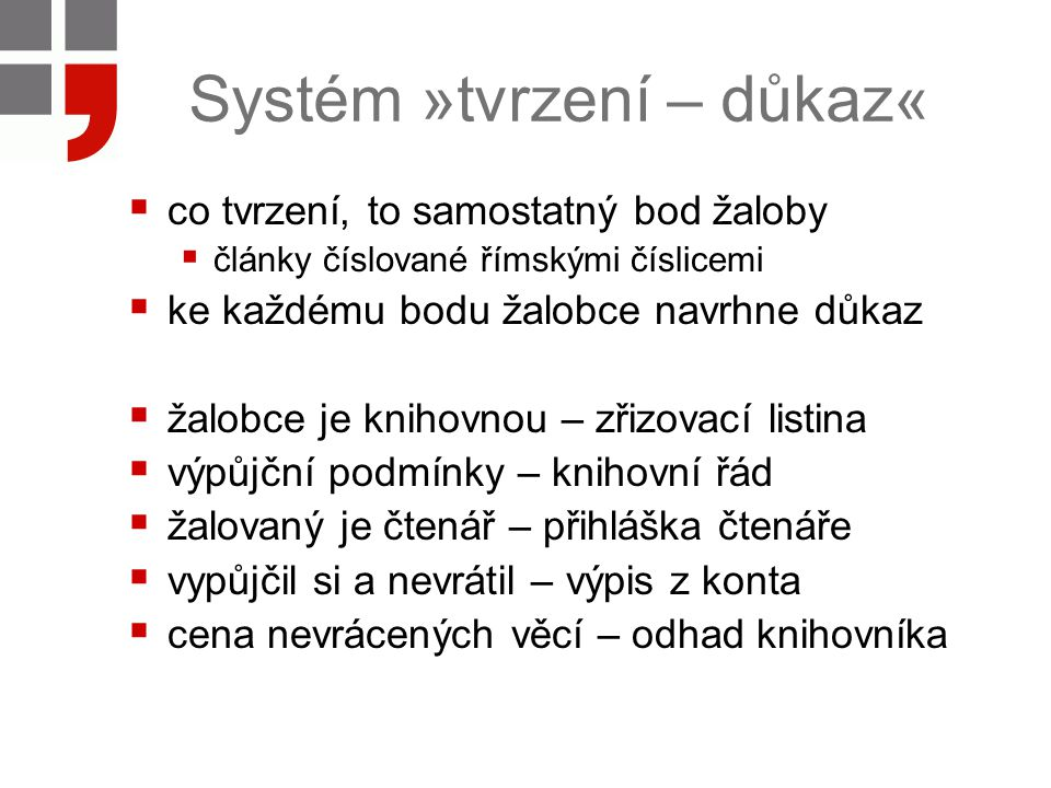 Systém »tvrzení – důkaz«