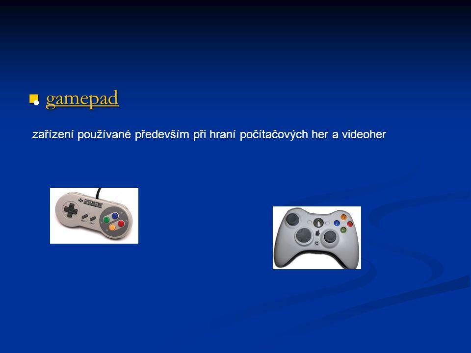 gamepad zařízení používané především při hraní počítačových her a videoher