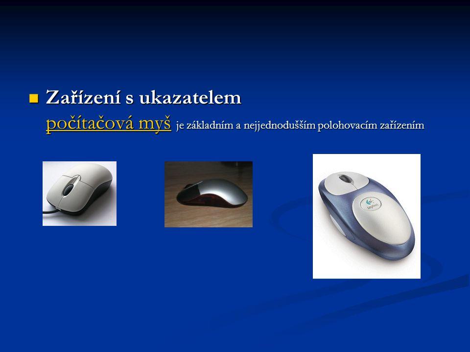 Zařízení s ukazatelem počítačová myš je základním a nejjednodušším polohovacím zařízením