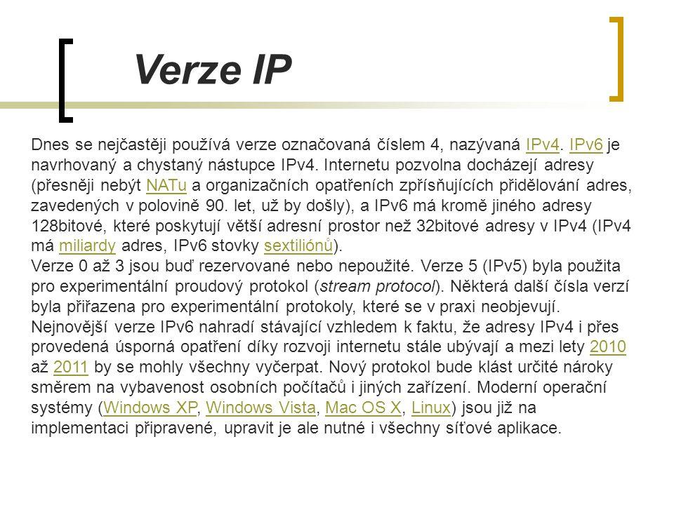 Verze IP