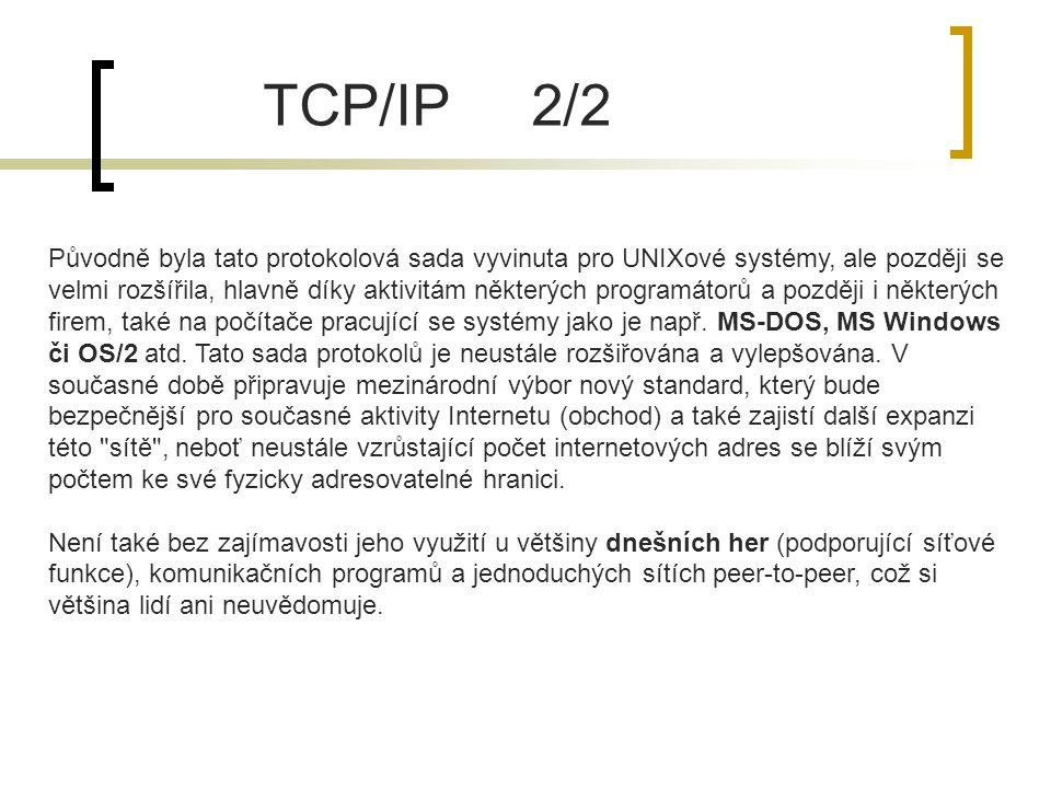 TCP/IP 2/2