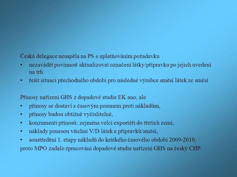 Česká delegace neuspěla na PS s uplatňováním požadavku