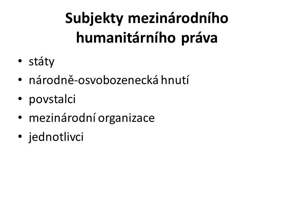 Subjekty mezinárodního humanitárního práva