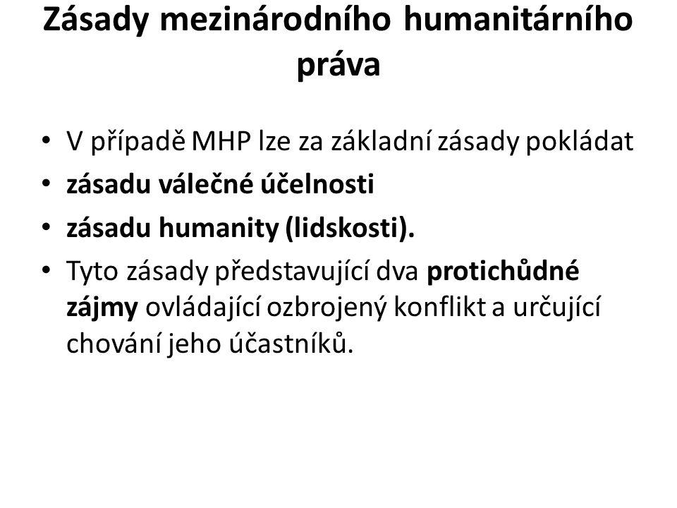Zásady mezinárodního humanitárního práva