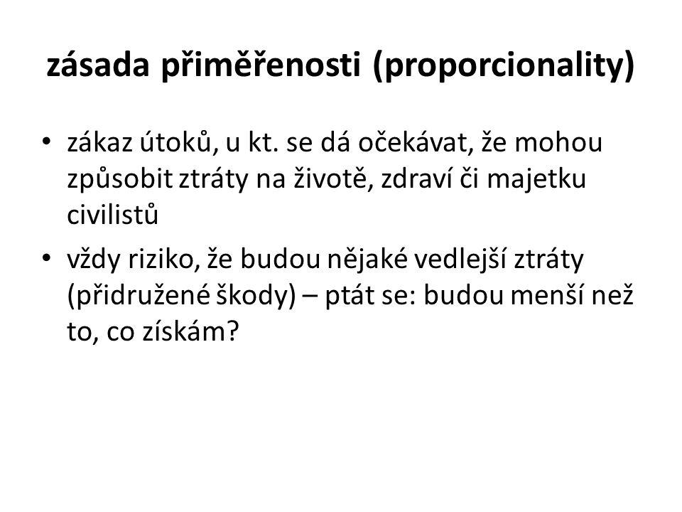 zásada přiměřenosti (proporcionality)