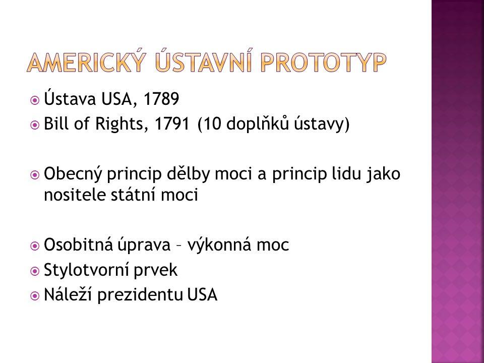 Americký ústavní prototyp