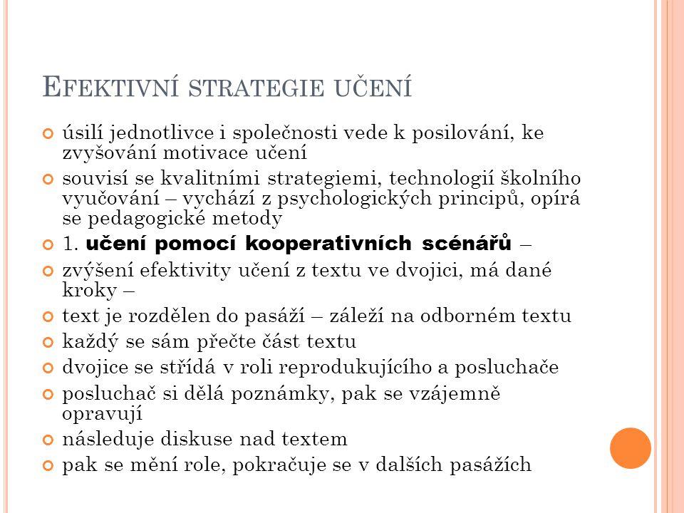 Efektivní strategie učení
