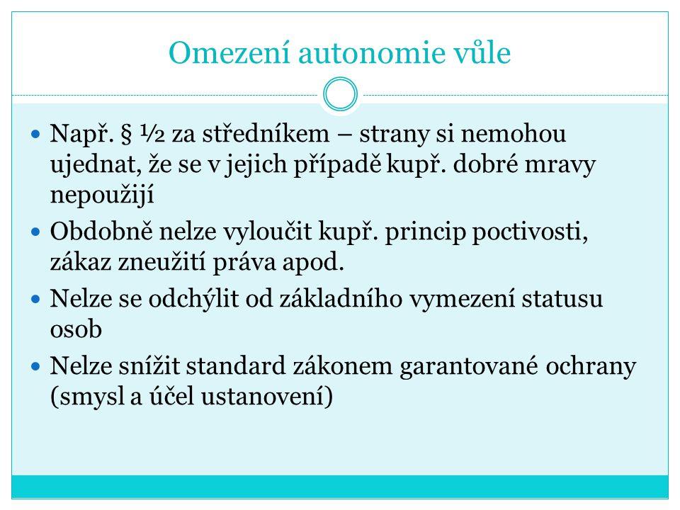 Omezení autonomie vůle