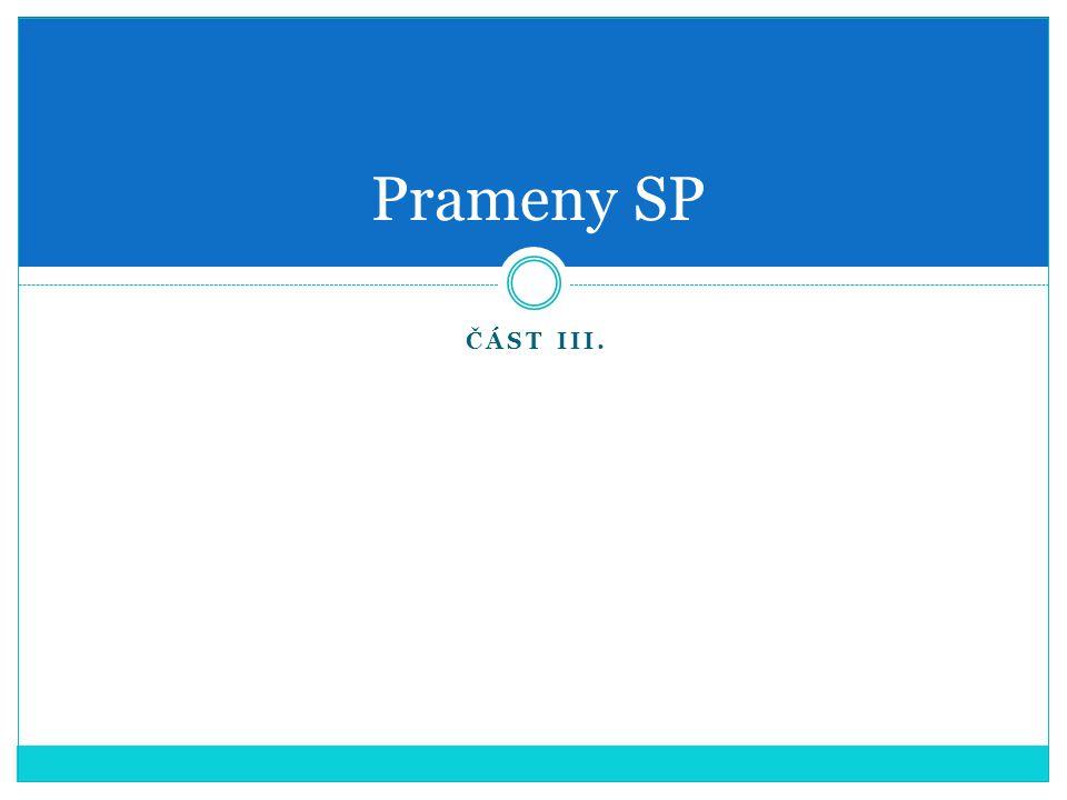 Prameny SP Část III.