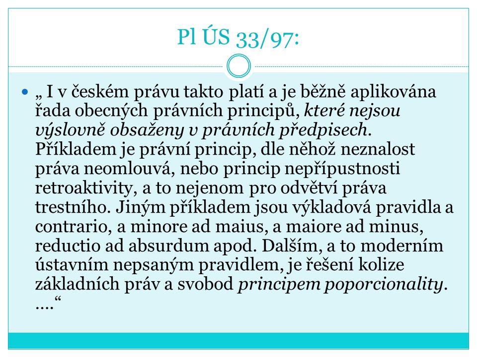 Pl ÚS 33/97: