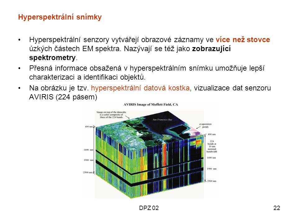 Hyperspektrální snímky