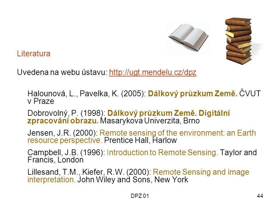 Uvedena na webu ústavu: http://ugt.mendelu.cz/dpz