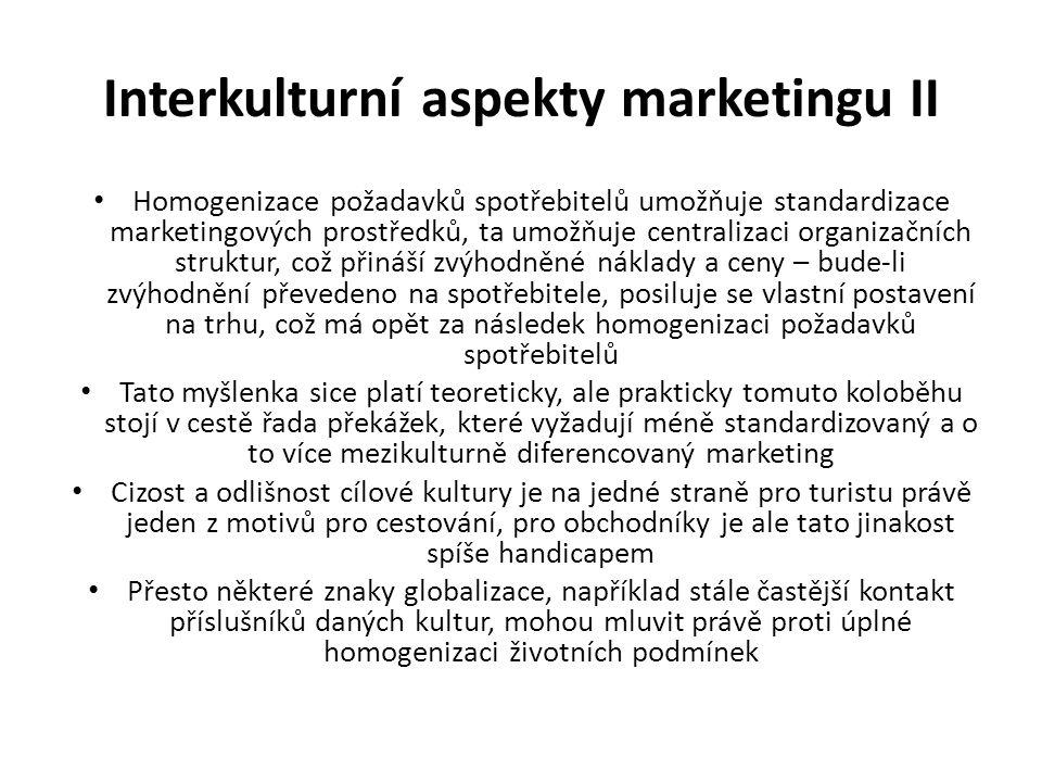 Interkulturní aspekty marketingu II