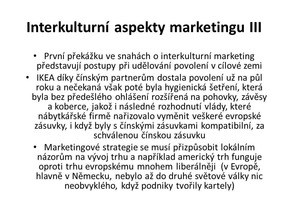 Interkulturní aspekty marketingu III