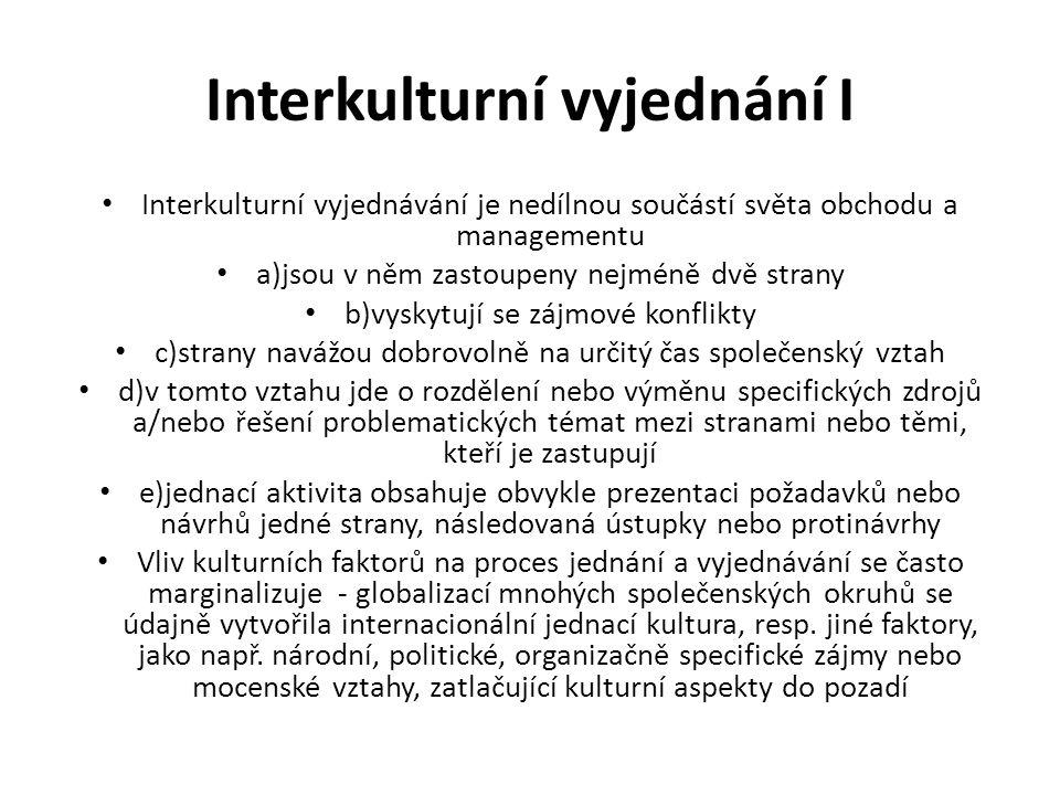 Interkulturní vyjednání I
