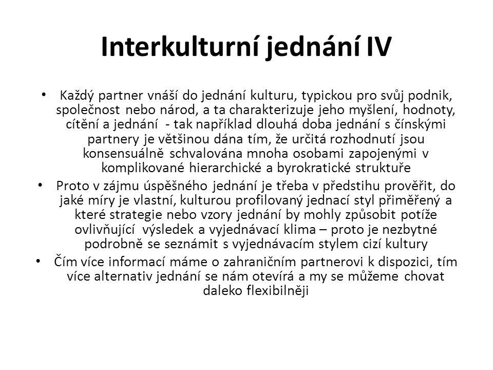 Interkulturní jednání IV