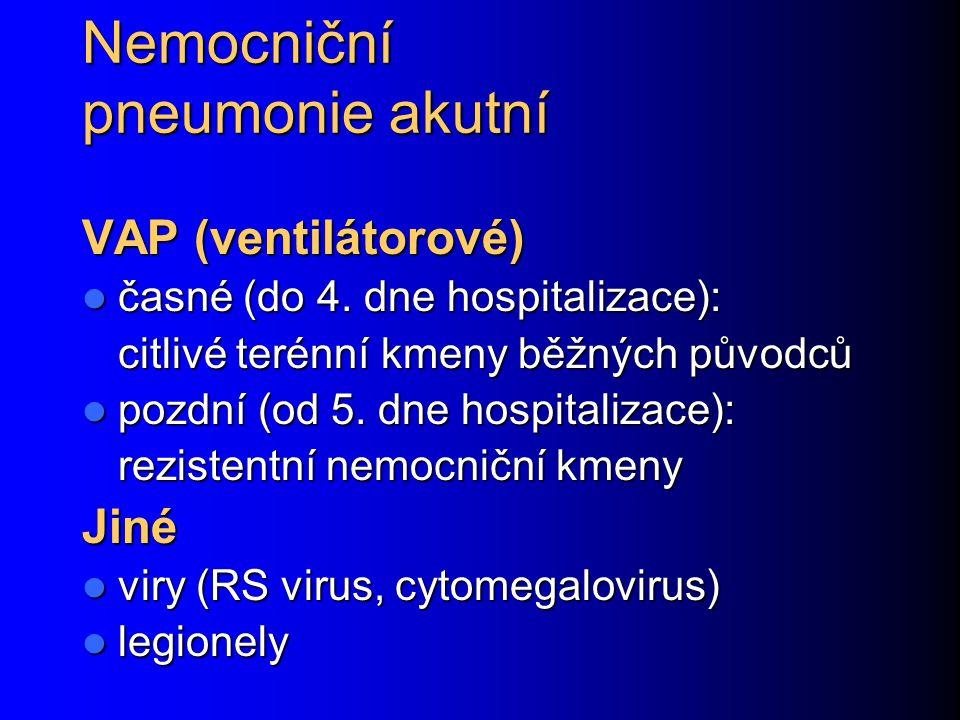 Nemocniční pneumonie akutní