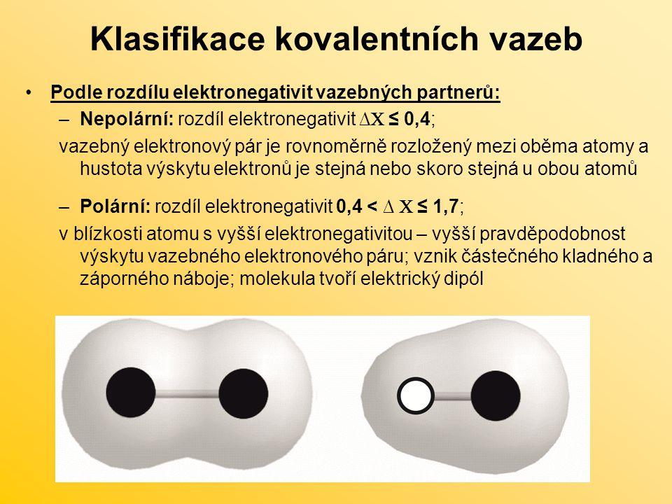 Klasifikace kovalentních vazeb