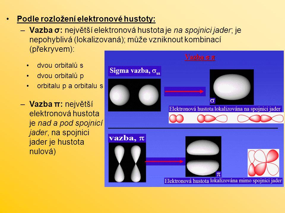 Podle rozložení elektronové hustoty: