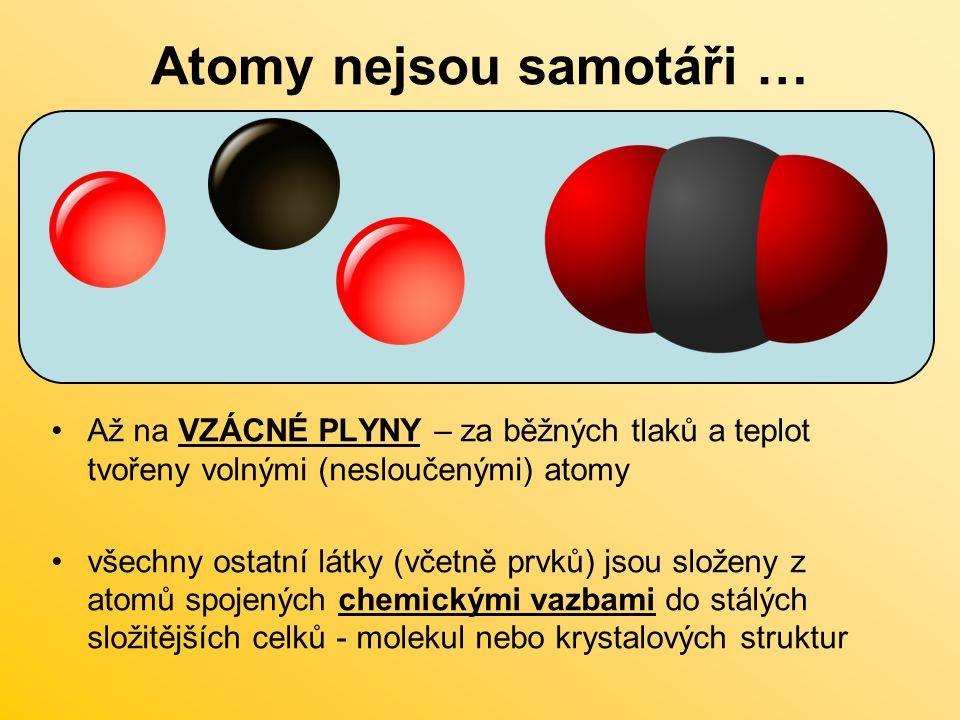 Atomy nejsou samotáři …